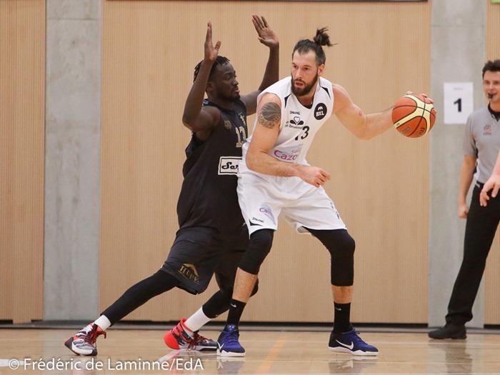 M. MBAYE (13) du CEP Fleurus lors du Match de Basket-ball 1/2 finales AWBB: CEP Fleurus – Royal IV Bruxelles qui s'est déroulé à Natoye (Hall sportif) le 29/01/2017.