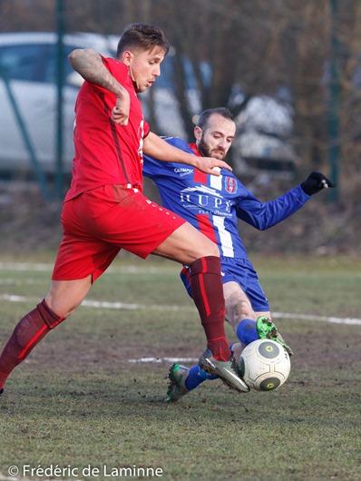 Match de FootballP1 : RAS Monceau – RUFC Ransart qui s'est déroulé à Monceau sur Sambre (Terrain du Hameau) le 12/02/2017.