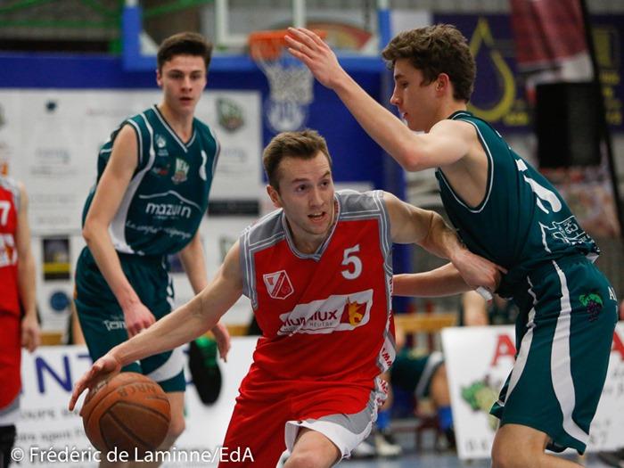 J. WANET (5) du Royal Gallia BC Beez lors du Match de Basket-ball R2 Belgrade - Beez qui s'est déroulé à Belgrade (Hall sportif) le 04/03/2017.