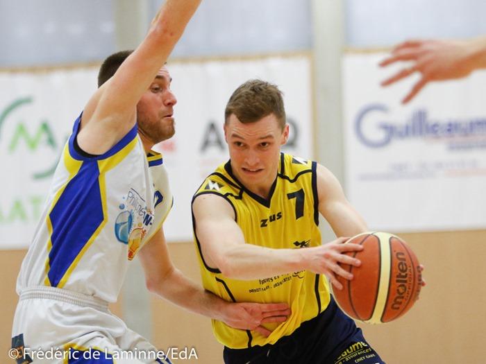 C. MASSON (7) du RCS Natoye lors du Match de Basket-ball Natoye – Mariembourg qui s'est déroulé à Natoye (Complexe Sportif) le 11/03/2017.