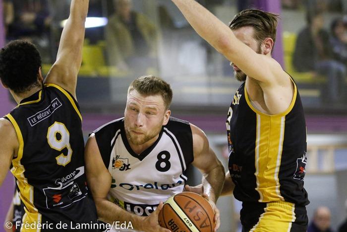 G. MEIRLAEN (8) du RBB Gembloux lors du Match de Basket-ball R1: Mazy – Gembloux qui s'est déroulé à Gembloux (Chapelle Dieu) le 18/03/2017.