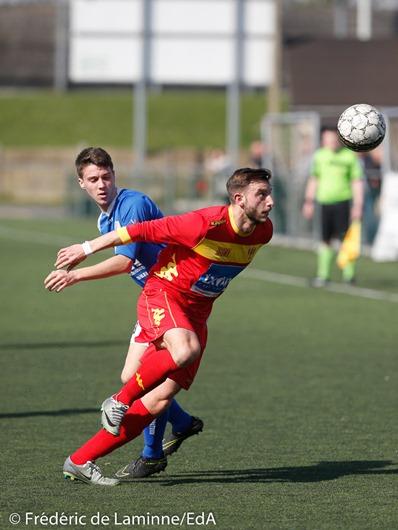 Match de Football P1: Gosselies-Pont-à-Celles qui s'est déroulé à Gosselies (RGS) le 26/03/2017.