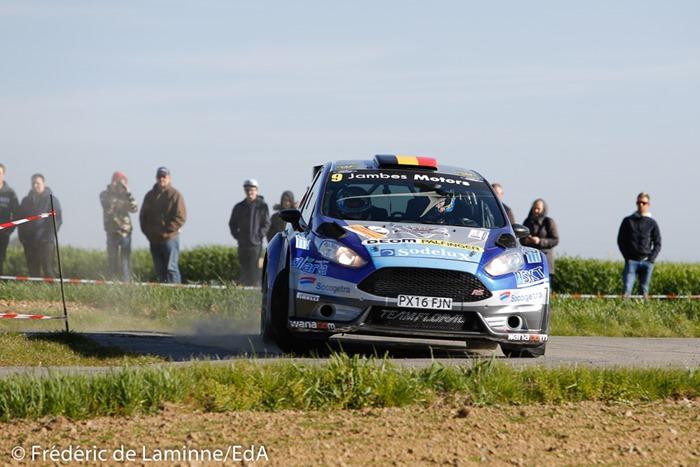 FERNÉMONT / MAILLEN (#9) sur Ford Fiesta R5 (RC2 R5) lors de la SS 18 Vedrin du Rallye de Wallonie qui s'est déroulée à Warisoulx (cimetière) le 30/04/2017.