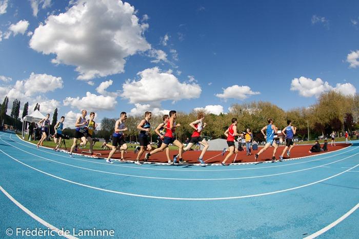 1500m hommes lors du Championnat LBFA d'athlétisme TC qui s'est déroulé à Nivelles (-) le 20/05/2017.