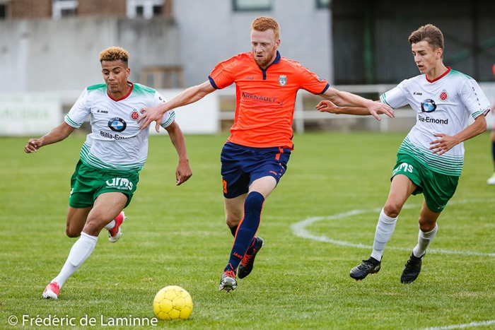 Match amical de Football RFC Meux – Virton qui s'est déroulé à Meux (RFC Meux) le 09/08/2017.