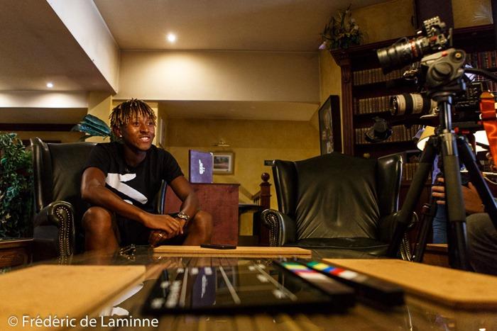 Rencontre avec Samuel Bastien joueur du Chievo Verone qui s'est déroulée à Gembloux (French inn) le 28/08/2017.