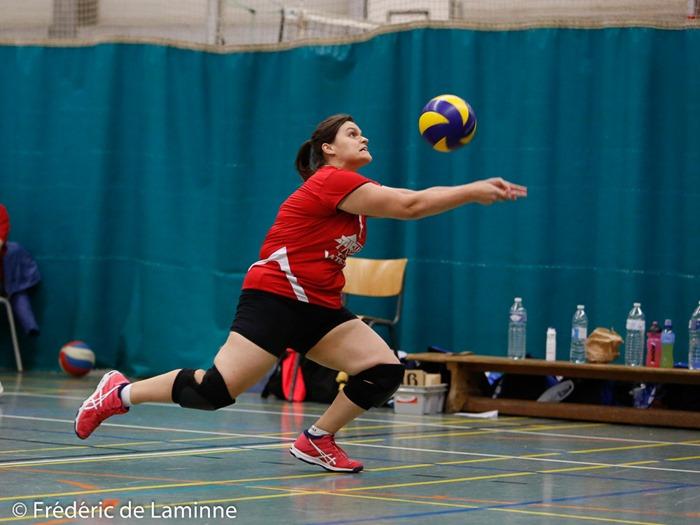 Match de Volley P1 dames: Arsimont – Jemeppe qui s'est déroulé à Auvelais (Complexe Sportif) le 14/10/2017.