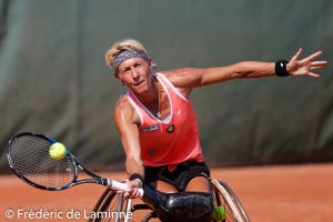 20180726 – Namur, Belgium : Match Nalani Buob (SUI) vs. Sabine Ellerbrock (GER)  during the Belgian Open wheelchair tennis Tournament on 26/07/2018 in Namur (TC Geronsart)
