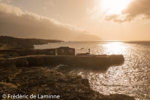 Vues de l'Hotel Puntagrande construit sur une avancée dans la mer lors du Voyage à El Hierro qui s'est déroulé à  () le 22/03/2019. Photo : Frédéric de Laminne