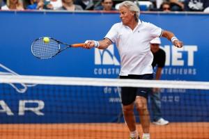 Björn BORG lors du Jaguar Tennis Trophy qui s'est déroulé à Namur (place St Aubain) le 14/06/2014.