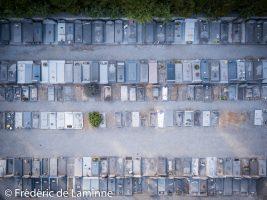 Vue aérienne d'un cimetière. 03/07/2018. Photo : Frédéric de Laminne
