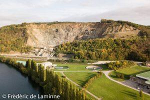 Images aériennes des Carrières de Profondeville / Lustin.