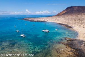 Playa de la Francesa sur l'Ile de la Graciosa, le 24/06/2019. Photo : Frédéric de Laminne